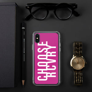Choose RCVRY iPhone Case - PINK