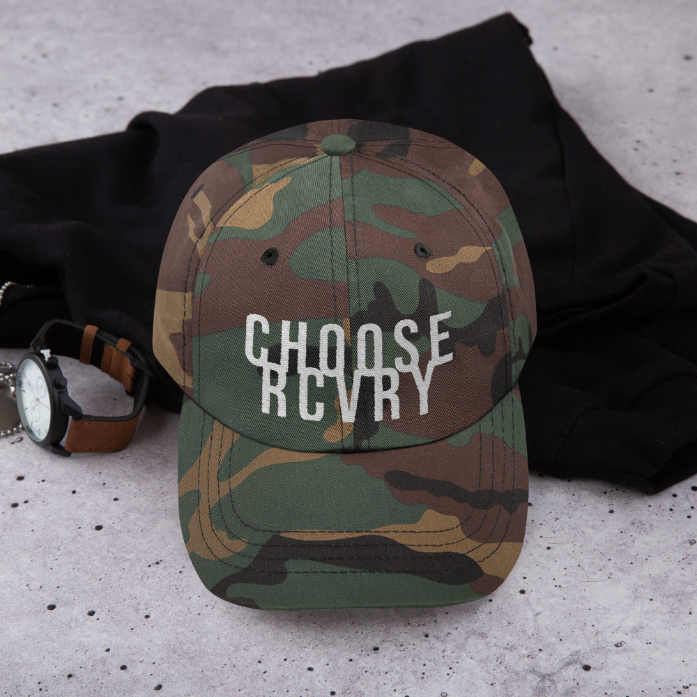 Choose RCVRY Unstructured Hat - CAMO and BLACK
