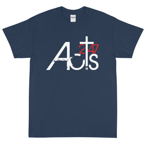 Acts 247 General Logo T-shirt w/ Back Mission Statement (Sm-5XL)