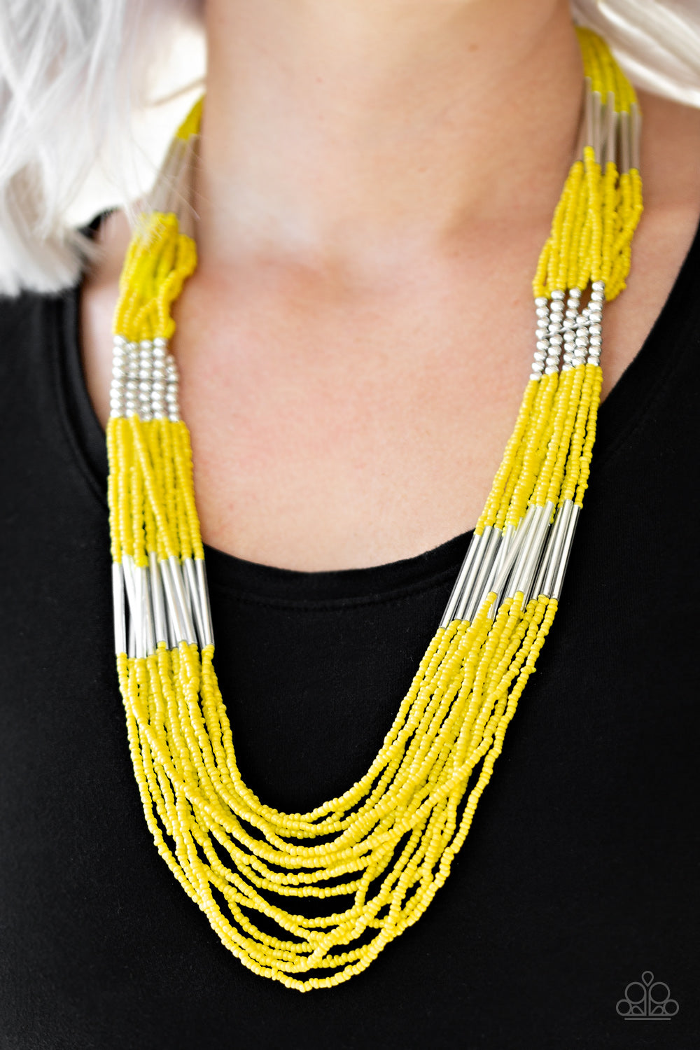 Paparazzi - Let it BEAD Necklace - Yellow