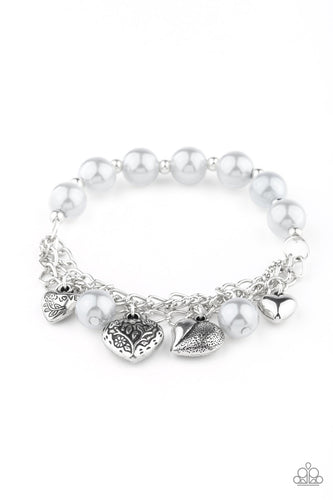 Paparazzi Accessories - Bracelet More Amour - Silver