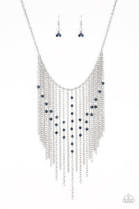 Paparazzi - First Class Fringe Necklace - Blue