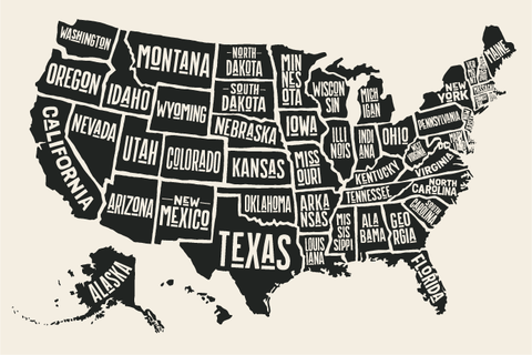 Map of States Shipped to- All 50 states