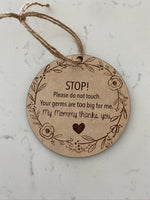 Stroller Tags- Please don't touch!