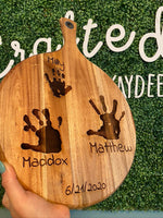 Hand Print Cutting Board