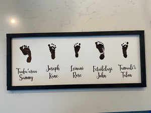 Custom Engraved Footprint Sign