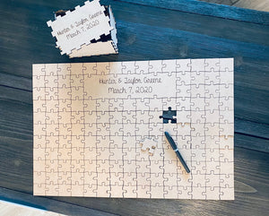 Wedding guest book puzzle