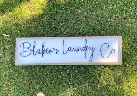 Custom Last Name Laundry Sign