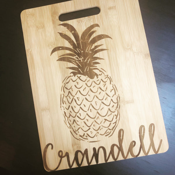 Pinneapple Last Name Cutting Board