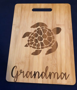 Sea Turtle Custom Cutting Board 🐢
