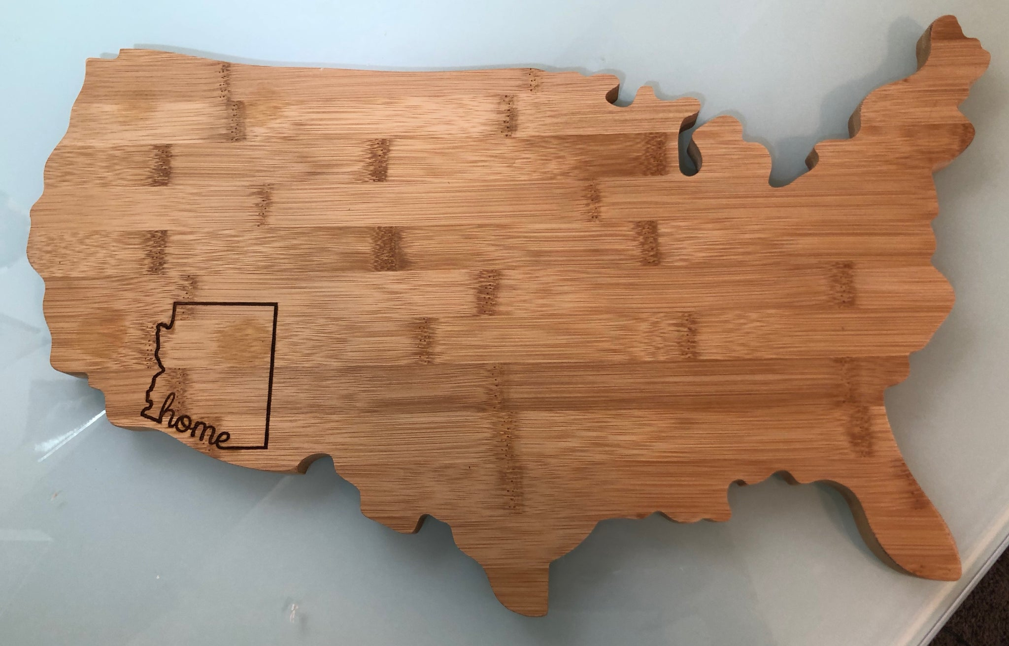 United States Cutting Board with your state outlined 🇺🇸