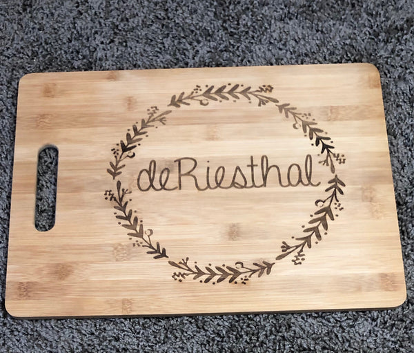 Custom Last Name Cutting Board