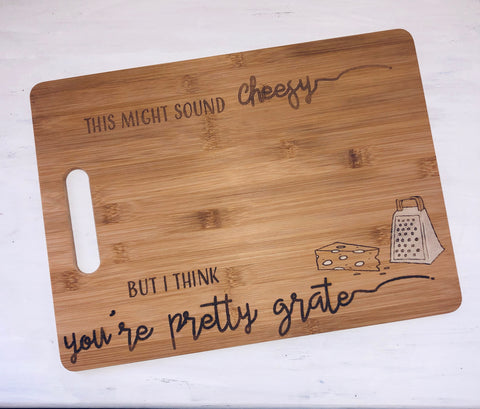 "Custom ""Cheesy"" Cutting Board"
