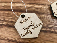 Wine Glass Name Tag