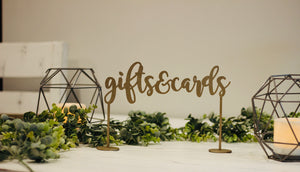 Gifts & Cards Table Sign