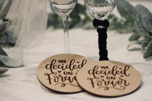 Round Coasters- Wedding