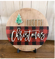 DIY Kit- Merry Christmas Round