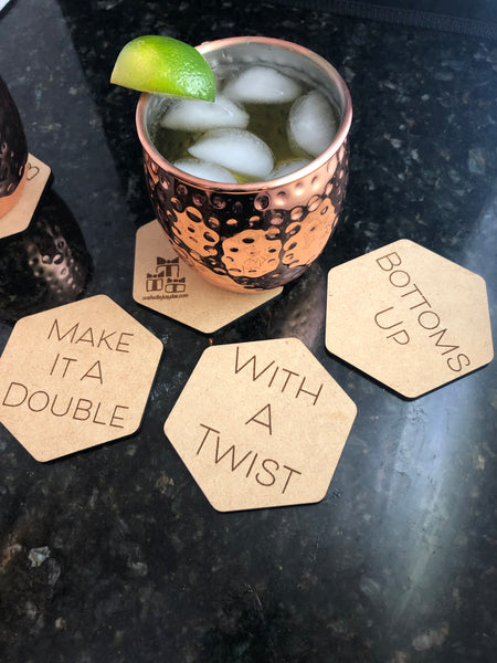 Customizable Hex Coasters 3.5