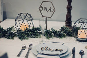 Table Numbers- Hex