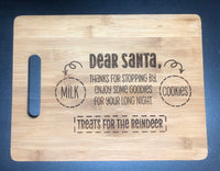 Santa cutting board