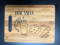 Milk and cookies cutting board 🍪