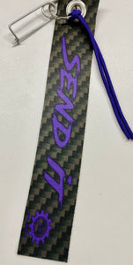 Send It Digital Purple and Carbon Fiber