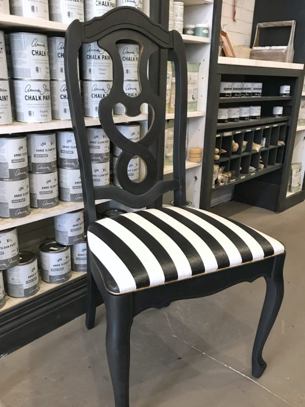 Black And White Striped Chair Suitepieces