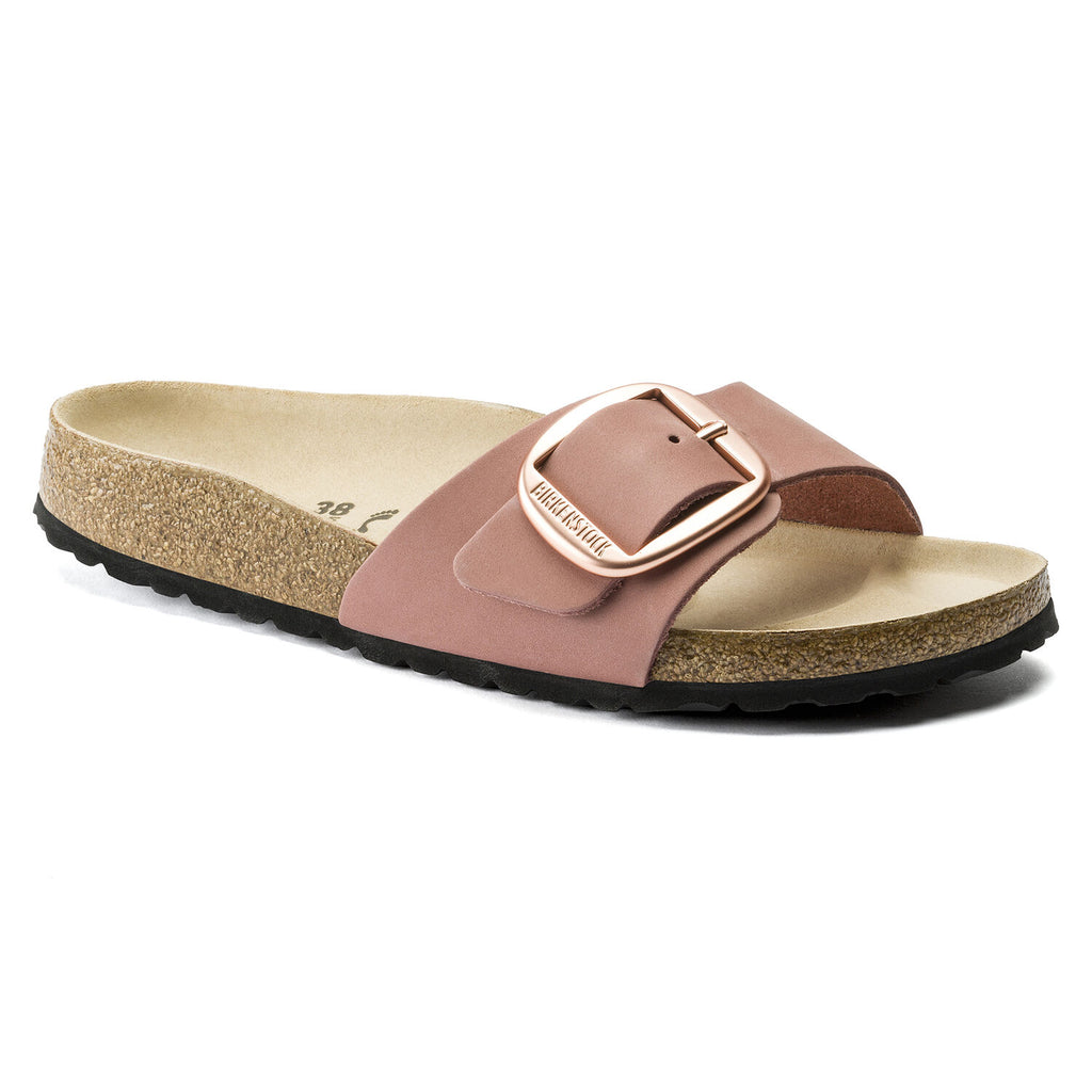 Birkenstock - Madrid Big Buckle Nubuck Leather Sandal