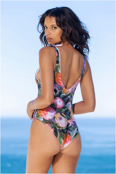 Gabrielle Swimwear - Shoulder Tie One Piece