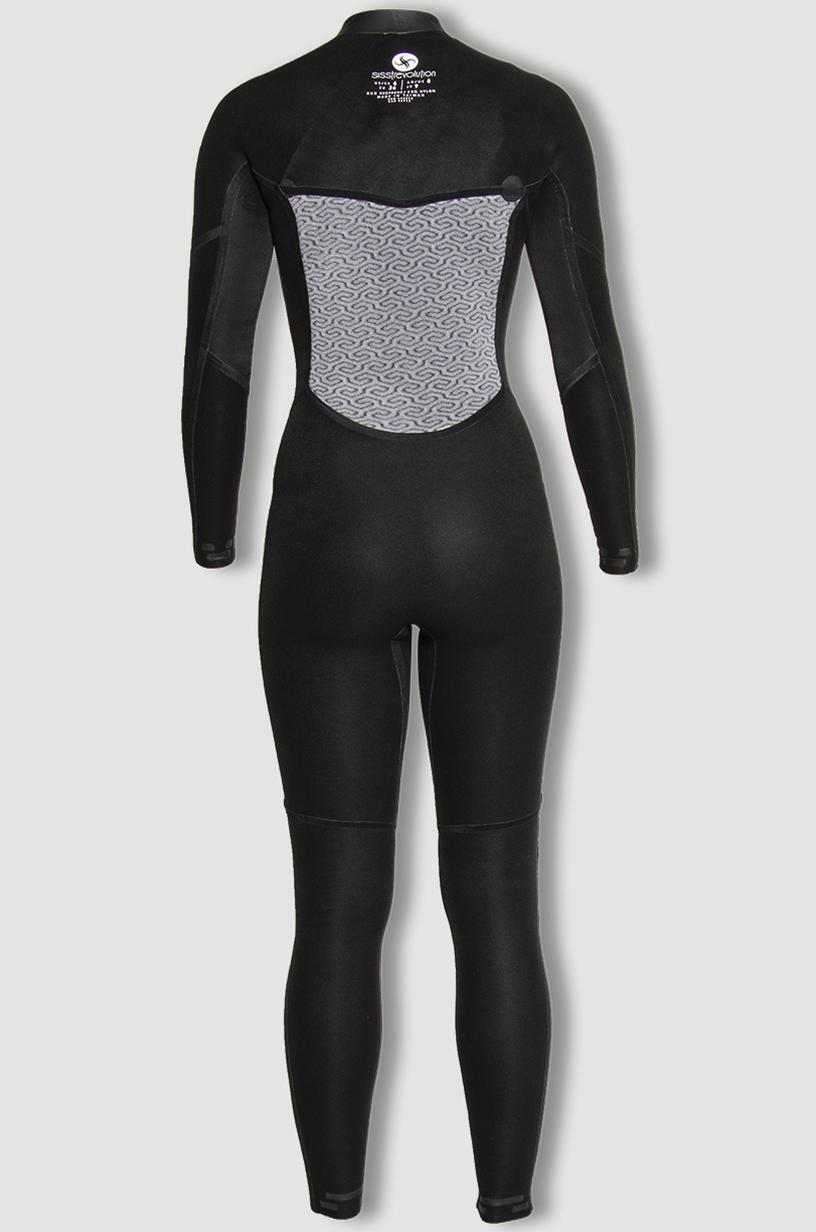 Sisstrevolution - 7 Seas Girls 3/2  Chest Zip Wetsuit