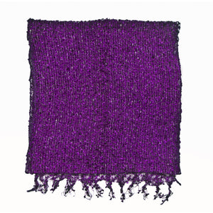 Women's Popcorn Ponchos - Amethyst Sparkle Swatch - Spirit of Nepal - Fair Trade Fashion