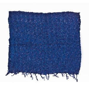 Women's Popcorn Ponchos - Blue Sparkle Swatch - Spirit of Nepal - Fair Trade Fashion