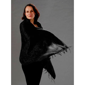 Womens Wraps/Shawls — Fair Trade Fashion from Nepal - Black