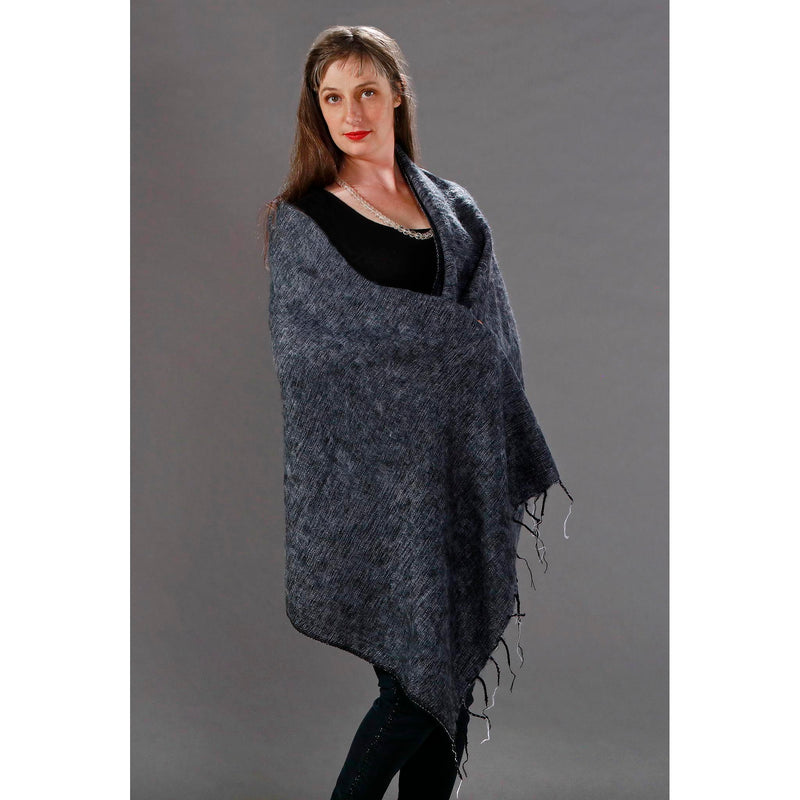 Womens Wraps/Shawls — Fair Trade Fashion from Nepal - Charcoal