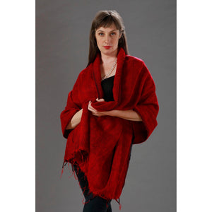 Women's Wraps/Shawls - Red - Spirit of Nepal - Fair Trade Fashion