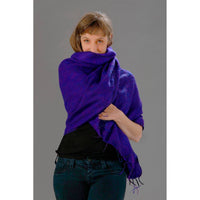 Womens Wraps/Shawls — Fair Trade Fashion from Nepal - Royal Purple