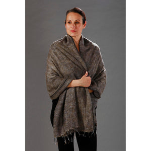 Womens Wraps/Shawls — Fair Trade Fashion from Nepal - Soft Brown