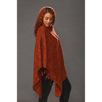Women's Solid Ponchos - Chili - Spirit of Nepal - Fair Trade Fashion