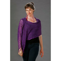 Womens Popcorn Poncho — Fair Trade Fashion from Nepal Purple