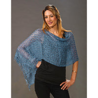 Women's Popcorn Ponchos - Denim Sparkle - Spirit of Nepal - Fair Trade Fashion