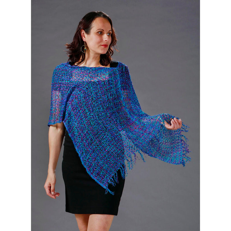 Women's Popcorn Ponchos - Gem Mix - Mixed Colors - Spirit of Nepal - Fair Trade Fashion
