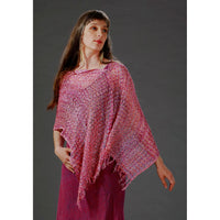 Women's Popcorn Ponchos - Orchid Mix Sparkle Swatch - Spirit of Nepal - Fair Trade Fashion