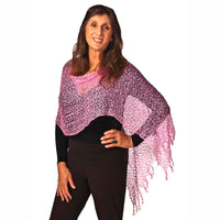 Women's Popcorn Ponchos - Pink - Solid Colors - Spirit of Nepal - Fair Trade Fashion