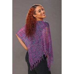 Women's Popcorn Ponchos - Thistle Sparkle - Spirit of Nepal - Fair Trade Fashion