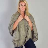 Womens Solid Poncho — Fair Trade Fashion from Nepal
