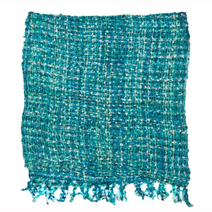 Women's Popcorn Ponchos - Mint Mix - Swatch - Mixed Colors - Spirit of Nepal - Fair Trade Fashion
