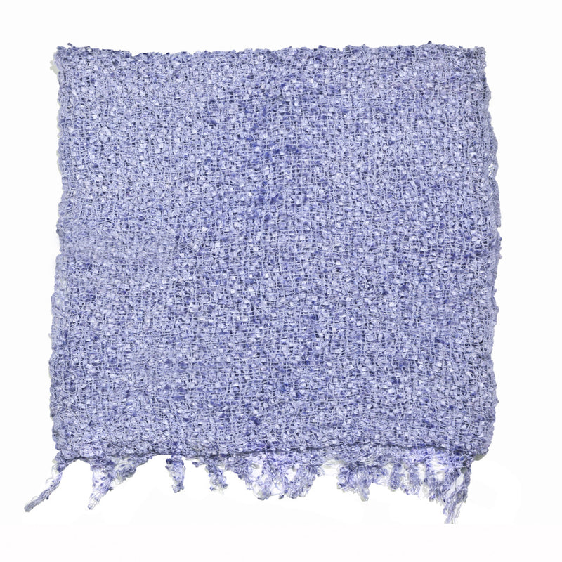Women's Popcorn Ponchos - Solid Colors - Periwinkle swatch - Spirit of Nepal - Fair Trade Fashion