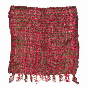 Women's Popcorn Ponchos - Plum Mix Swatch - Mixed Colors - Spirit of Nepal - Fair Trade Fashion