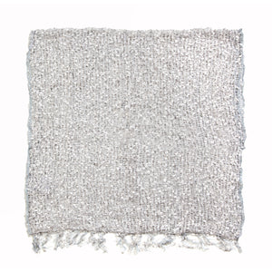 Women's Popcorn Ponchos - White Sparkle Swatch - Spirit of Nepal - Fair Trade Fashion