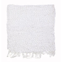 Women's Popcorn Ponchos - White Swatch - Solid Colors - Spirit of Nepal - Fair Trade Fashion